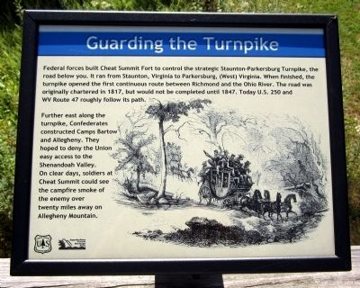 Guarding the Turnpike Marker image. Click for full size.