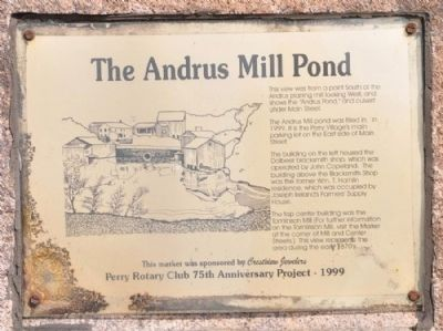 Andrus Mill Pond Marker image. Click for full size.