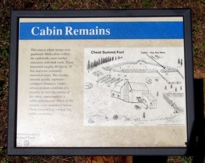 Cabin Remains Marker image. Click for full size.