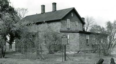 Cheney-Faulkner Cooper Home as it looked in 1958 image. Click for full size.