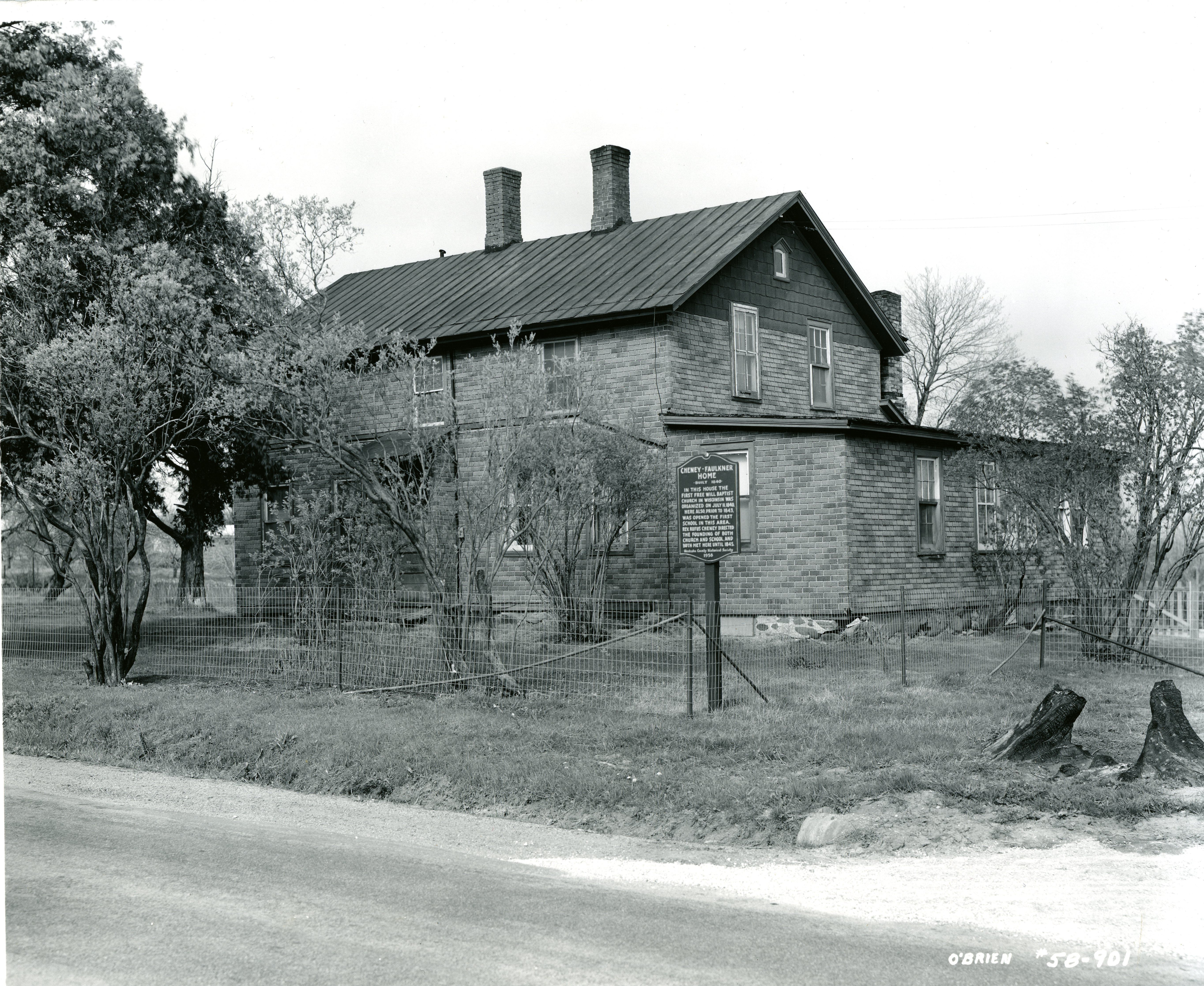 Cheney-Faulkner Cooper Home as it looked in 1958