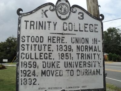 Trinity College Marker image. Click for full size.