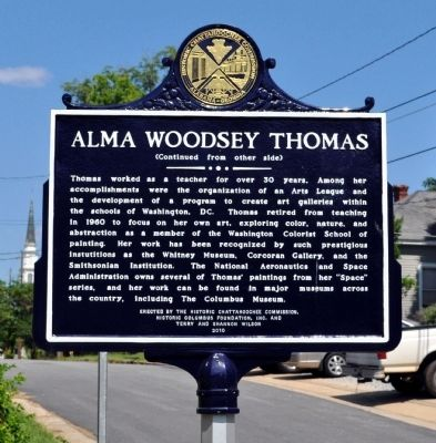 Alma Woodsey Thomas Marker, Side 2 image. Click for full size.