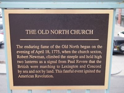 The Old North Church Marker image. Click for full size.