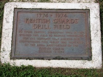 Kentish Guards Drill Field Marker image. Click for full size.