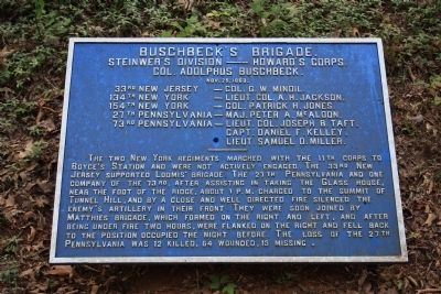 Buschbeck's Brigade Marker image. Click for full size.