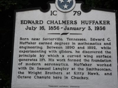 Edward Chalmers Huffaker Marker image. Click for full size.