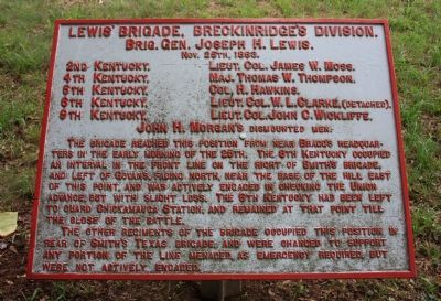Lewis' Brigade Marker image. Click for full size.