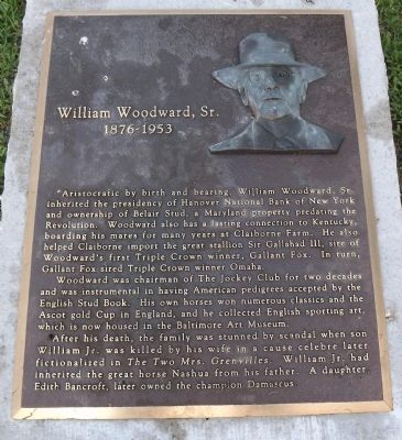 William Woodward, Sr. Marker image. Click for full size.