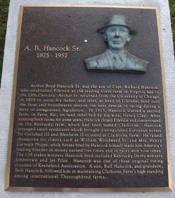 A. B. Hancock Sr. Marker image. Click for full size.