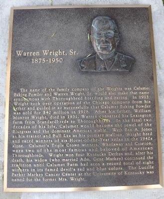Warren Wright, Sr. Marker image. Click for full size.