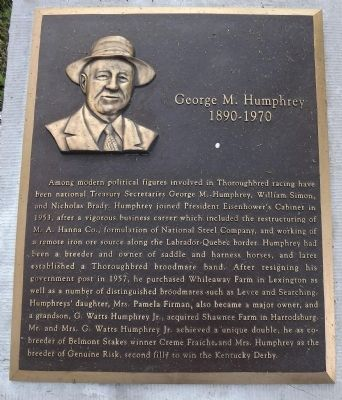 George M. Humphrey Marker image. Click for full size.