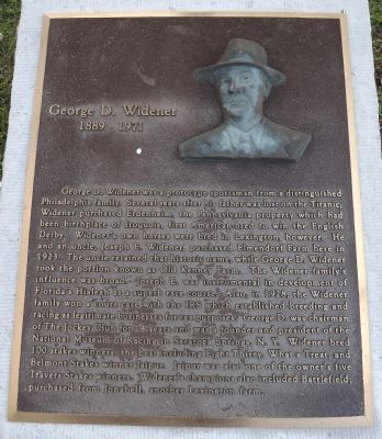George D. Widener Marker image. Click for full size.