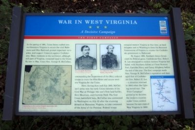 War In West Virginia CWT Marker image. Click for full size.