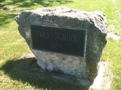 Frey School (1859) Marker image. Click for full size.