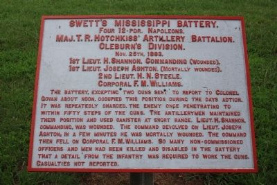 Swett's Mississippi Battery Marker image. Click for full size.
