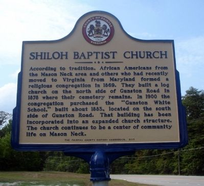 Shiloh Baptist Church Marker image. Click for full size.