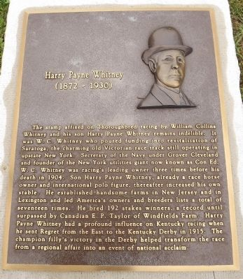 Harry Payne Whitney Marker image. Click for full size.
