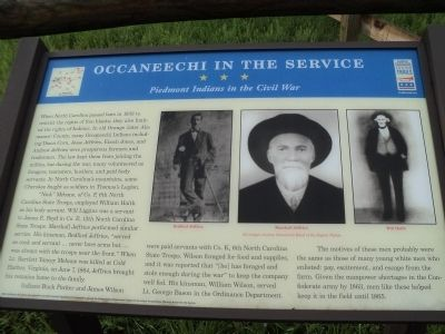 Occaneechi in the Service Marker image. Click for full size.