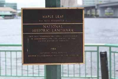 Maple Leaf Historical Landmark Plaque #94001650 image. Click for full size.