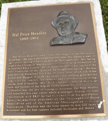 Hal Price Headley Marker image. Click for full size.