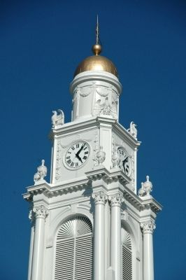 Schenectady City Hall Clock Tower image. Click for full size.