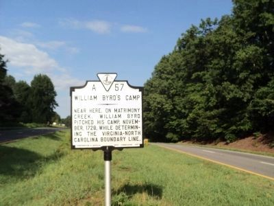 William Byrd's Camp Marker image. Click for full size.
