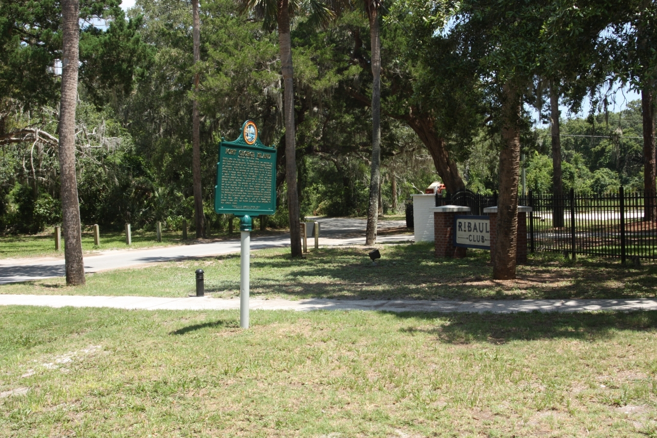 Fort George Island Marker near the north end of Fort George Road