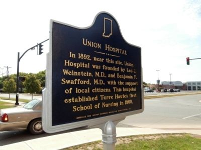 Obverse Side - - Union Hospital Marker image. Click for full size.