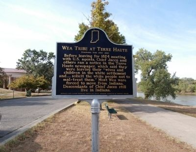 "Side ""Two"" - - Wea Tribe at Terre Haute Marker image. Click for full size."