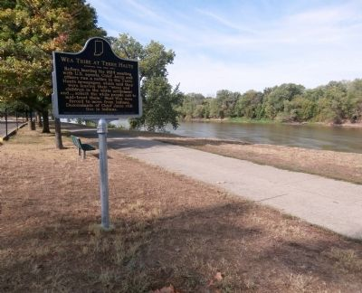 Other View - - Wea Tribe at Terre Haute Marker image. Click for full size.