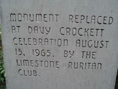 Side of Crockett Monument image. Click for full size.