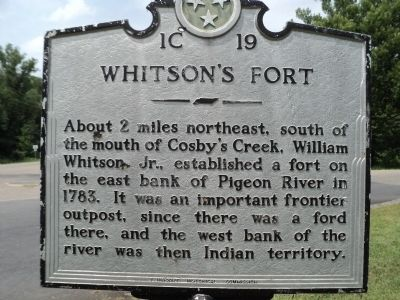 Whitson's Fort Marker image. Click for full size.