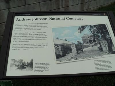 Andrew Johnson National Cemetery Marker image. Click for full size.