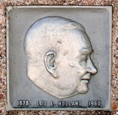 Lou E. Holland Profile on Marker image. Click for full size.
