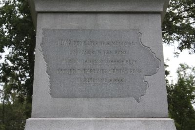 Iowa State Monument Marker image. Click for full size.