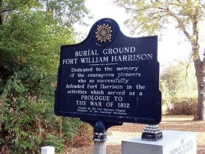 Burial Ground Fort William Harrison Marker image. Click for full size.