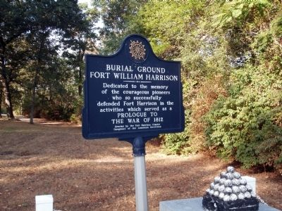 Obverse Side - - Burial Ground Fort William Harrison Marker image. Click for full size.