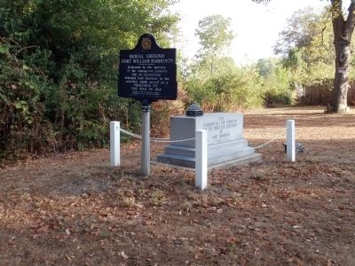 Wide View - - Burial Ground Fort William Harrison Marker image. Click for full size.