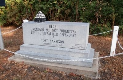 The Unknown Embattled Defenders of Fort Harrison Marker image. Click for full size.