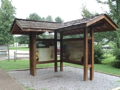 Markers in Davy Crockett Birthplace State Park image. Click for full size.