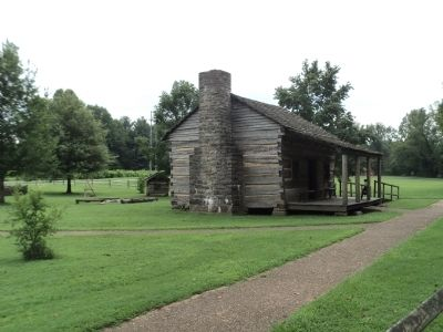 Cabin where Davy Crockett was Born image. Click for full size.