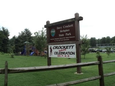 Davy Crockett Birthplace State Park image. Click for full size.
