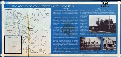 The Metropolitan Branch and Takoma Park Marker image. Click for full size.