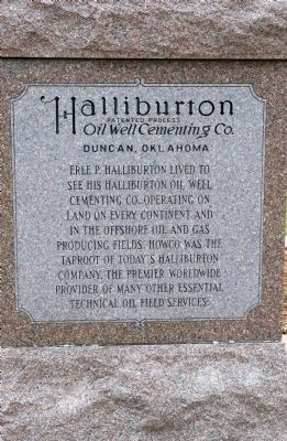 Erle P. Halliburton Monument image. Click for full size.