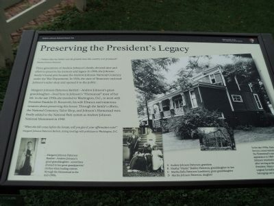 Preserving the President's Legacy Marker image. Click for full size.