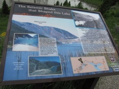 The Seismic Shake that Shaped this Lake image. Click for full size.