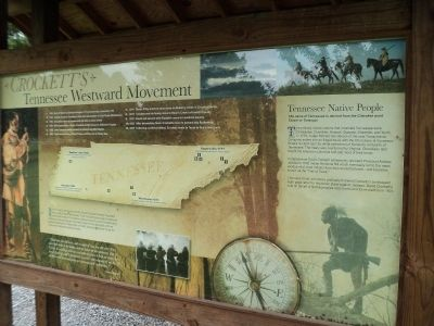 Crockett's Tennessee Westward Movement Marker image. Click for full size.