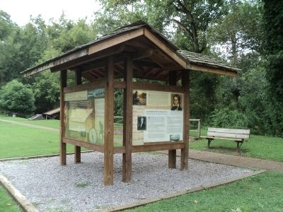Marker in Davy Crockett Birthplace State Park image. Click for full size.