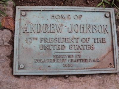 Home of Andrew Johnson Marker image. Click for full size.